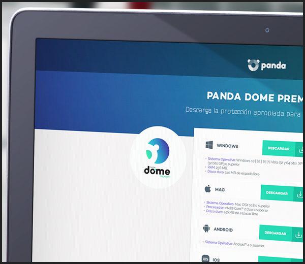Panda Antivirus: Páginas de Producto Dome