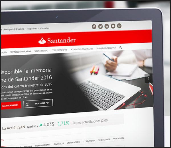 Banco Santander: Portal Web España